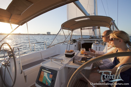 Enjoy A Catered Dinner on A Charleston Sailing Tour