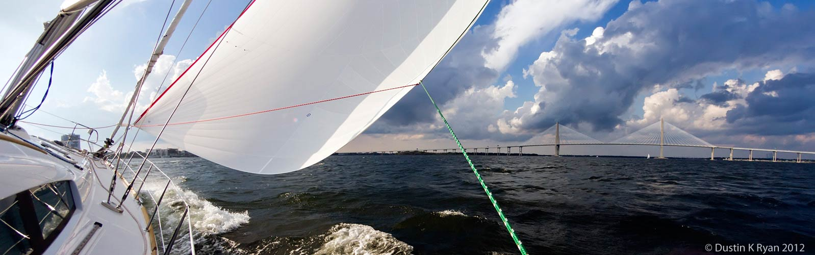 Sail a spinnaker on the Charleston Harbor